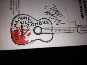 OBS använd inte gitarren för att döda zombier på riktigt